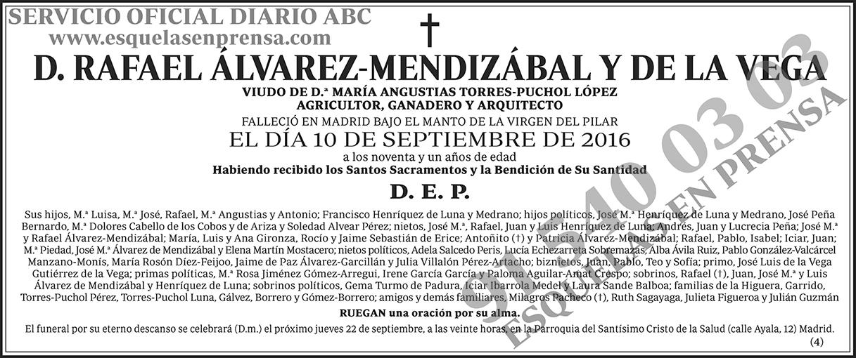 Rafael Álvarez-Mendizábal y de la Vega